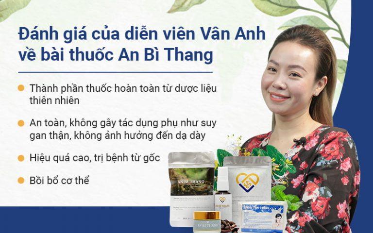 Diễn viên Vân Anh đánh giá rất cao bài thuốc An Bì Thang