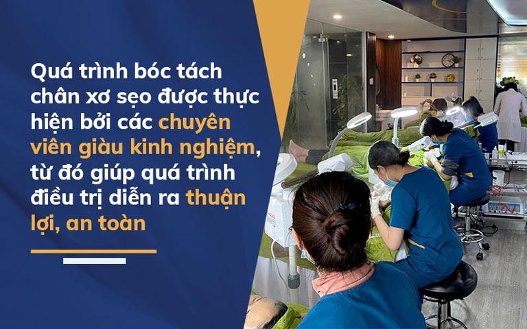 Quy trình trị sẹo tại Viện Da liễu Hà Nội - Sài Gòn được diễn ra chuyên nghiệp, an toàn