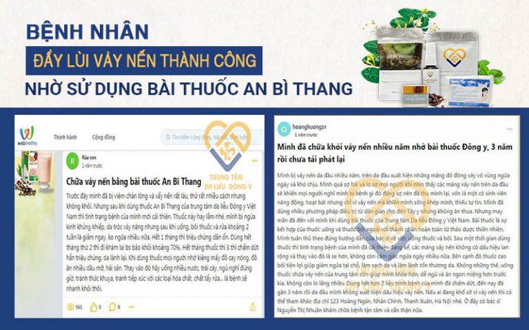 Phản hồi của bệnh nhân về An Bì Thang trên trang Webtretho