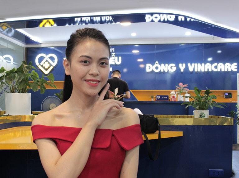 Làn da của chị Trang cải thiện rõ rệt sau khi điều trị tại Viện Da liễu Hà Nội - Sài Gòn