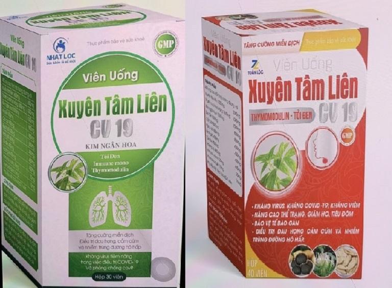 Hình ảnh 2 sản phẩm Xuyên tâm liên giả được Bộ y tế xác nhận