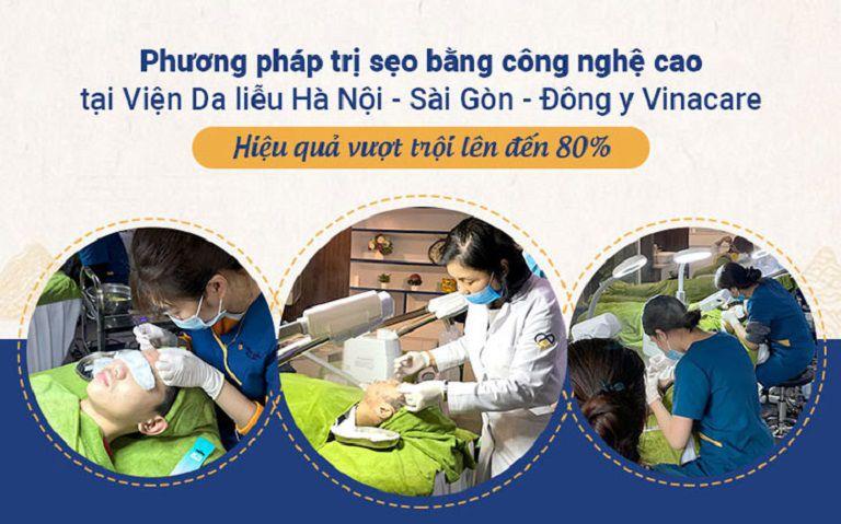 Viện da liễu Hà Nội - Sài Gòn là đơn vị áp dụng công nghệ trị sẹo tiên tiến hiện đại trong điều trị