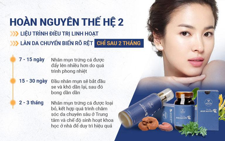 Bộ sản phẩm Mụn trứng cá Hoàn Nguyên có liệu trình linh hoạt cho từng cá nhân