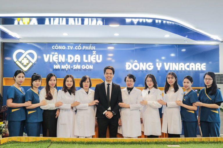 Đội ngũ y bác sĩ Viện Da liễu Hà Nội - Sài Gòn
