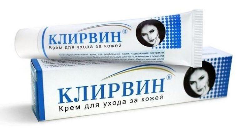 Kem trị sẹo rỗ Klirvin được thiết kế dạng tuýp nhỏ tiện lợi