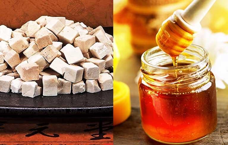 Sử dụng bạch phục linh và mật ong chữa nám
